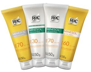 Linha de produtos RoC Minesol.20minutospratudo