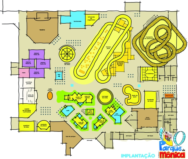 Mapa do novo Parque da Mônica_Shopping SP Market_Coletiva 2804201520minutospratudo