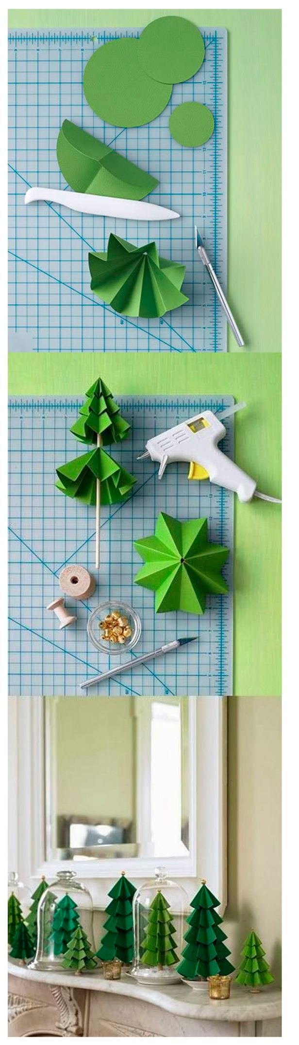 Aqui círculos de papel cartão, linha, cola quente e miçangas! Ideia linda! Imagem: http://www.happygoluckyblog.com/2012/04/upcycled-craft-ideas.html